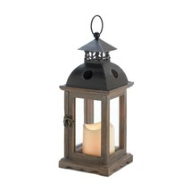 Simple Monticello Lantern With LED Candle - $23.44
