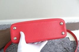 100% Authentic Louis Vuitton CAPUCINES MM Bag Red Taurillon Python image 4