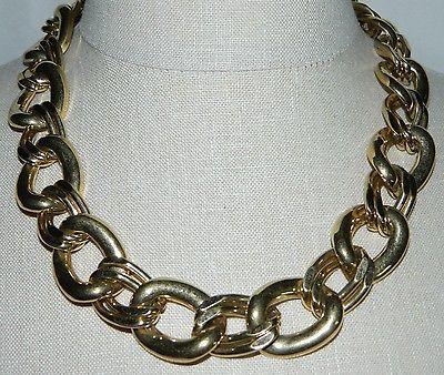 "VTG NAPIER Signed PAT. 4.774.743 Gold Tone Necklace Choker 20.5"" in Length"