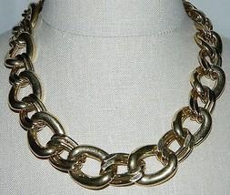 "VTG NAPIER Signed PAT. 4.774.743 Gold Tone Necklace Choker 20.5"" in Length image 1"