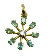bonnie Emerald CZ Gold Plated Green Pendant Fashion supplies US - $11.28