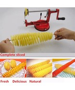 Potato Slicer Fruit Vegetable Slicer Knife Stainless Steel Manual Metal ... - $20.49