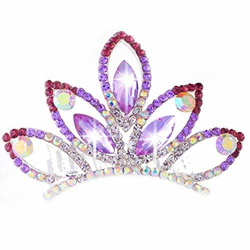Lovely Bridal Headdress Crystal Crown Plate Hair Comb