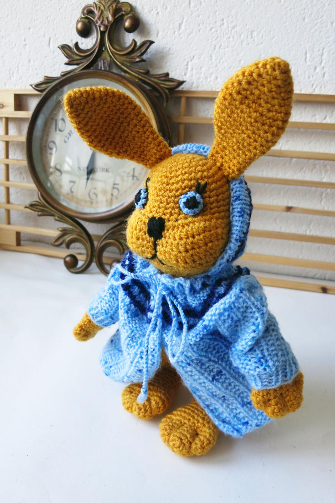 Amigurumi bunny - handmade animal - stuffed soft toy - baby shower gift