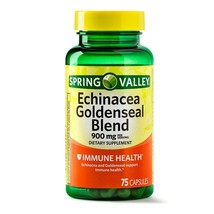 Spring Valley Echinacea Goldenseal Blend Capsules, 900 mg, 75 Count+ - $12.99