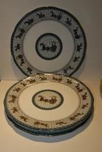 LAT 3 THREE PLATES ASIAN CHARACTERS MONGOL CHARIOT ANCIENT ROME HISTORY ... - $29.99