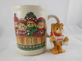 Rare Vintage 1980 Lucy & Me Christmas Mug and 1982 JOY Ornament Enesco  - $15.83