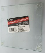 """GLASS CUTTING BOARD / TRIVET, SQUARE, CLEAR, TRANSPARENT, appr 8 x 8"""" by GR - $11.87"""