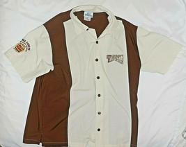 Grumpy Character Disney Land Tavern Men's Embroidered Bowling Shirt Size Medium - $23.41