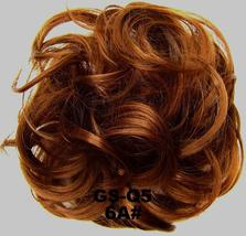 Natural Color Curly Messy Bun Hair Piece Scrunchie Hair Extension image 14