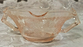 Old Vintage 30s Florentine #1 Pink Depression by Hazel Atlas Cream Soup Nut Bowl
