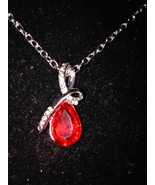 Fashion Silver Women Crystal Chain Rhinestone Necklace Jewelry Pendant - $12.95