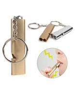 1 PCS Rnadom Color Dual-tube Portable Aluminum Safety Whistle For Pets - $24.76