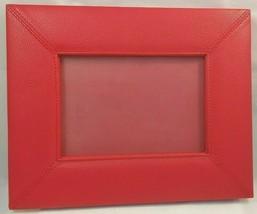 Campo Marzio Picture Photo Frame Red Pebble Leather Desk Accessory Busin... - $28.49