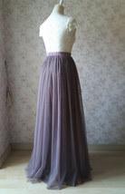 Maxi Full Tulle Skirt High Waisted Floor Length Tulle Skirt Wedding Tulle Skirt  image 6