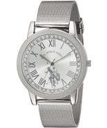 U.S. Polo Assn. Women's Quartz Metal And Alloy Casual Watch, Color:Silve... - £35.09 GBP