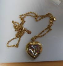 Princess House Gold & Crystal Heart Pendant For Mother Necklace - $44.55