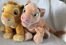 Disney Store Lion King Simba & Nala Plush Stuffed Animals Super Soft - $27.99
