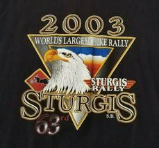 VTG 2003 Sturgis Motorcycle Bike Rally Mens XL T-Shirt Eagle Native American Tee - $14.99