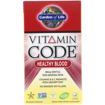 Garden of Life Vitamin Code Healthy Blood 60 Vegan Caps Dairy-Free, Dairy-Free , - $26.99