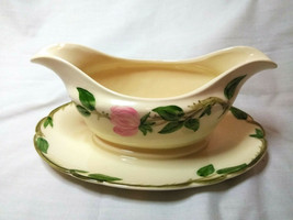Vintage Franciscan China Gravy boat  Desert Rose  - $19.79