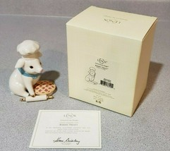 Retired Rare Lenox Bakery Treats Pig Porcelain Figurine Chef Baking Pie ... - $33.24