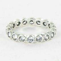 Pandora 190942CZ Ring Eternity Cubic Zirconia Sterling Silver Sz 8.5 58 ... - $53.34