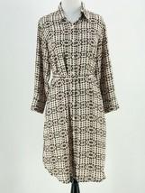 CAbi #784 Women's Pale Pink Black Long Sleeve Colony Club Shirt Dress Me... - $19.80
