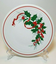 Homer Laughlin FIESTA Holiday Ribbon Holly Berry 9 in Luncheon Plate 198... - $49.45