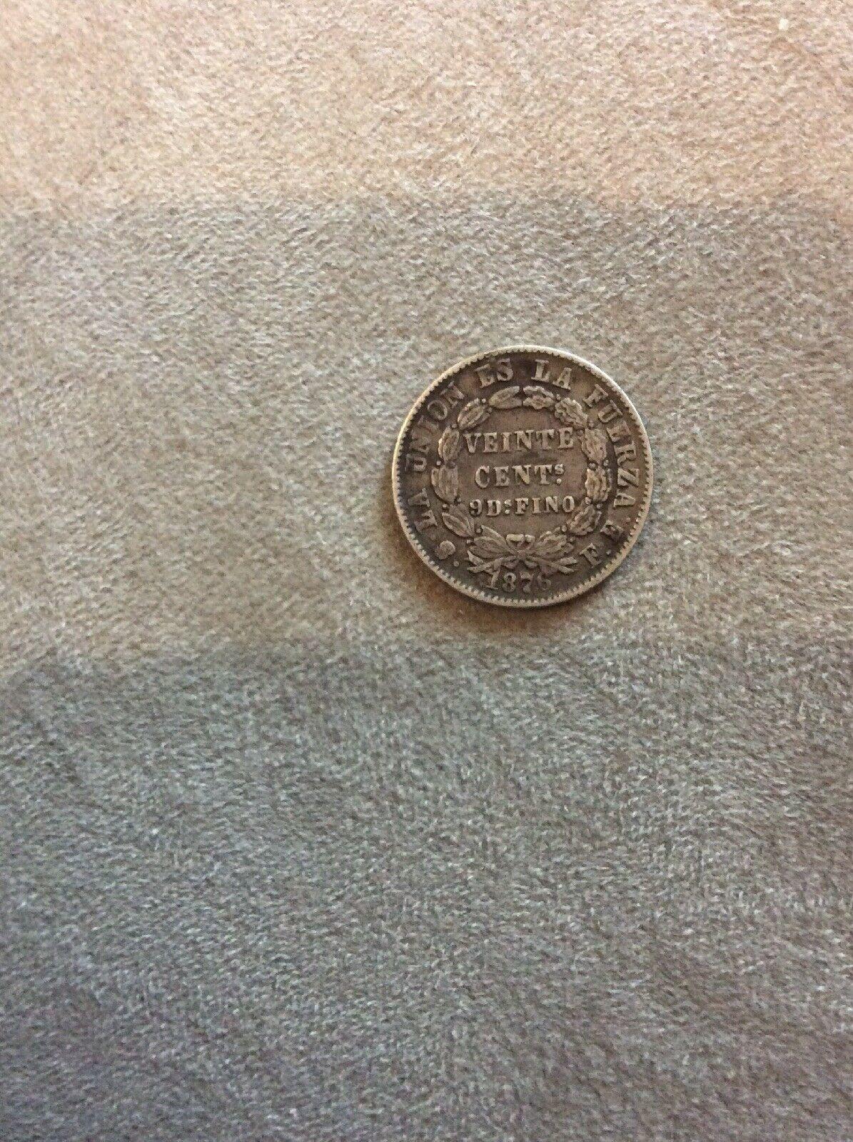 Bolivia 1876 020 Plata Coin