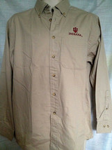 UNIVERSITY OF INDIANA MENS DRESS SHIRT KHAKI SIZE SMALL  BRAND NEW - $14.88