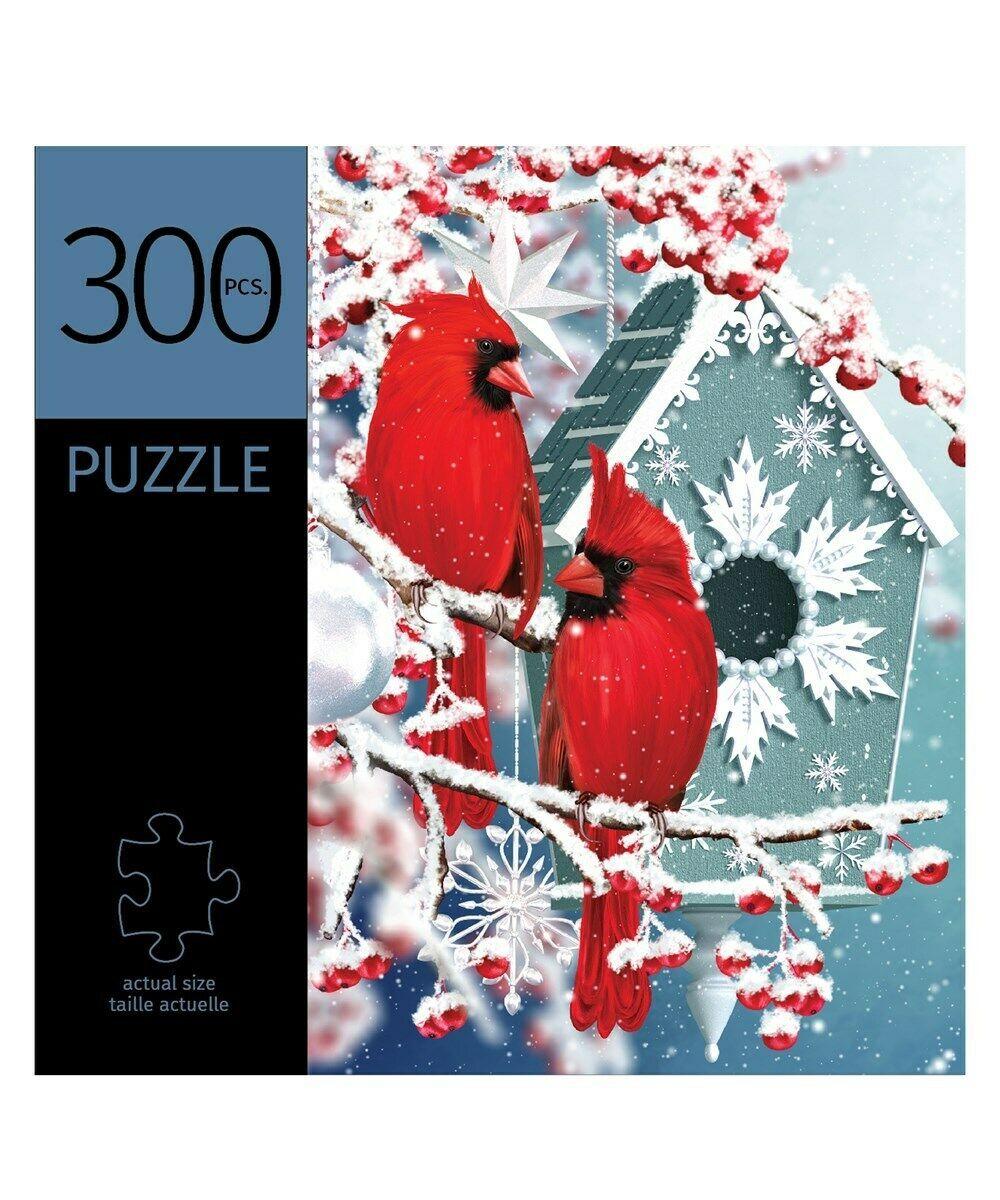 "Winter Cardinals Jigsaw Puzzle 300 pc Durable Fit Pieces 11"" x 16"" Leisure Birds"
