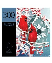 "Winter Cardinals Jigsaw Puzzle 300 pc Durable Fit Pieces 11"" x 16"" Complete"