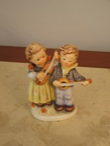 Hummel Goebel 150 2/0 Figurine Happy Days Boy Girl W Germany Guitar Mand... - $117.81