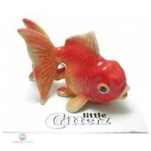 """FANTAIL GOLDFISH """"Fancy"""" swims New MINIATURE Figurine Porcelain LITTLE C... - $27.61"""