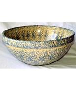 1920s Massive Robinson Ransbottom Pottery Blue Spongeware Mixing Bowl #720 - $1,399.99