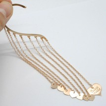 Single Earring Silver 925 Laminated Pink Gold in le Fairytale Fringe and Hearts image 2