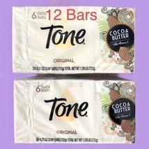 Tone Bar Soap Cocoa Butter Original 4.25 Oz. X 12 Bars Free Fast Shipping! - $29.77