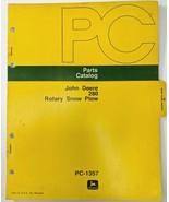 Vintage John Deere 1214 Parts Catalog OEM PC-1357 280 Rotary Snow Plow P... - $28.98