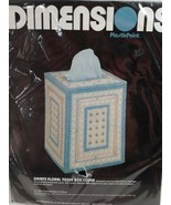 Dimensions Plastic Point 2526  Dainty Floral Tissue Box Cover 1984 New  ... - $16.65