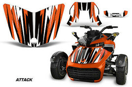 Hood Graphics Kit Decal Sticker Wrap For Can-Am F3-S Spyder Roadster ATT... - $156.55