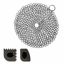 "Cast Iron Cleaner Cosmer XL 7""x7"" Premium Stainless Steel Chainmail Scru... - $10.82"
