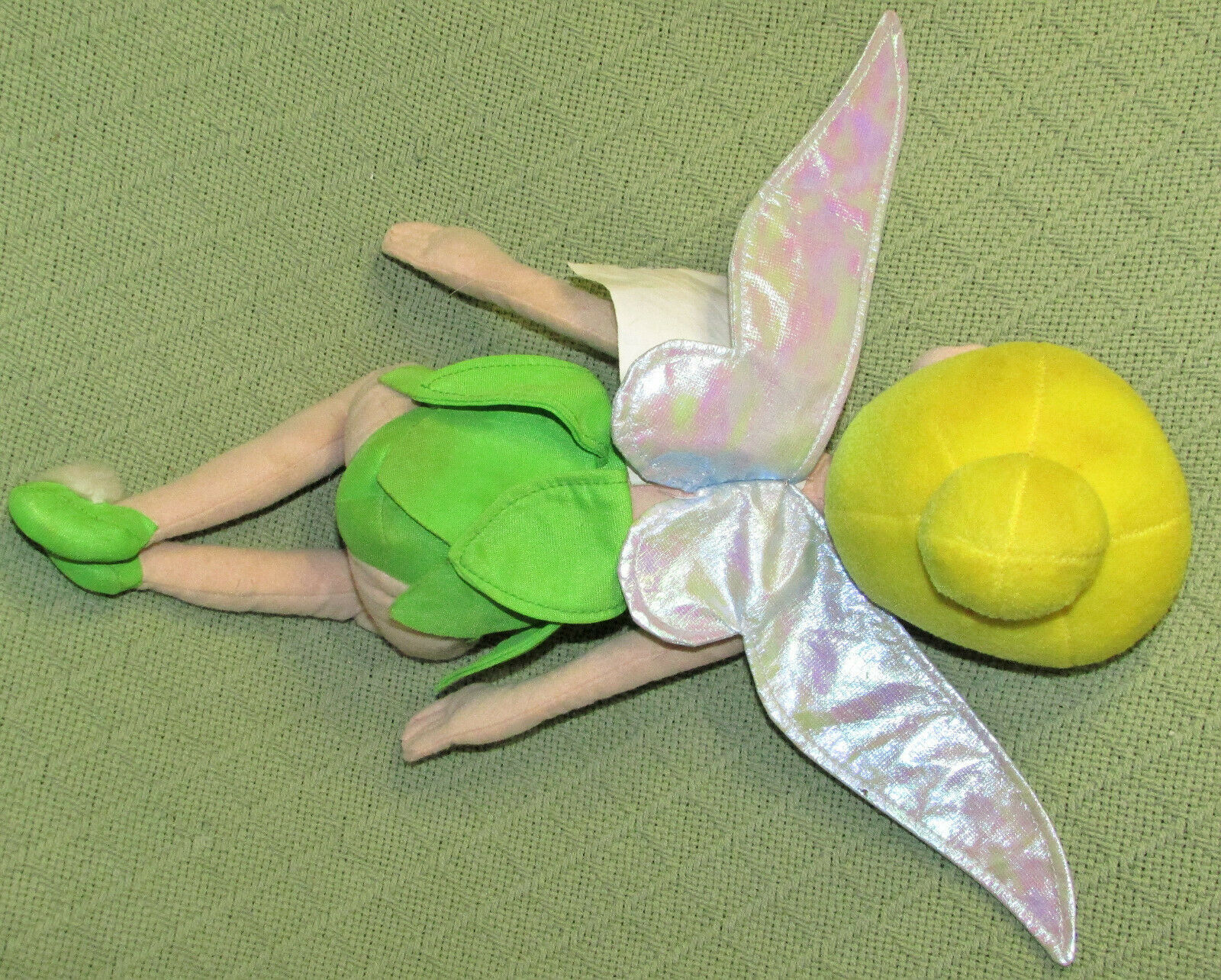 "13"" TINKERBELL Disney FAIRIES PIXIE DOLL Plush Stuff Animal Kneeling Peter Pan"
