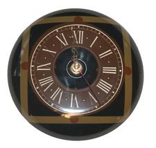 Vintage Nahariya Glass Andreas Meyer Israel Handmade Wall Hang Clock 1970's image 1