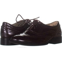 Wanted Babe Lace Up Oxfords 023, Burgundy, 10 US - $22.07