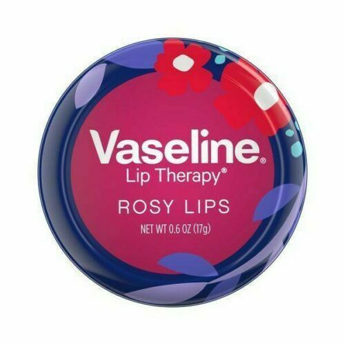 VASELINE Lip Therapy ROSY LIPS Balm EASTER Spring FLOWERS TIN Purple+Pink NEW 1c - $6.85