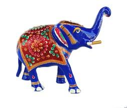 Rastogi HandicraftsTrunk-Up Good Luck Elephant Sculpture - Metal Figurine with M - $38.61