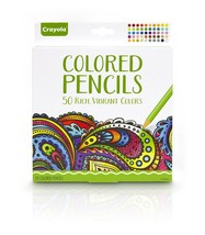 Crayola Colored Pencils, Pre-sharpened, Adult Coloring, 50 Count, Stocki... - $27.35