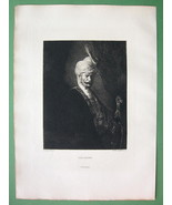 ORIGINAL ETCHING Print - Moorish Chief by Ferdinand BOL - $22.95