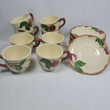 Vintage Franciscan Apple—Tea Coffee Cups and Saucers Set of 8 Mixed Era saucers. - $29.99